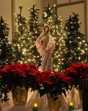 Christmas decorations at St. Alphonsus