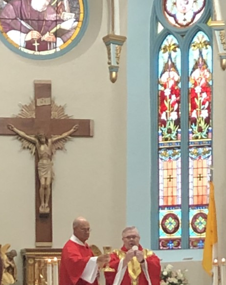 Fr. Rons last mass at st alphonsus